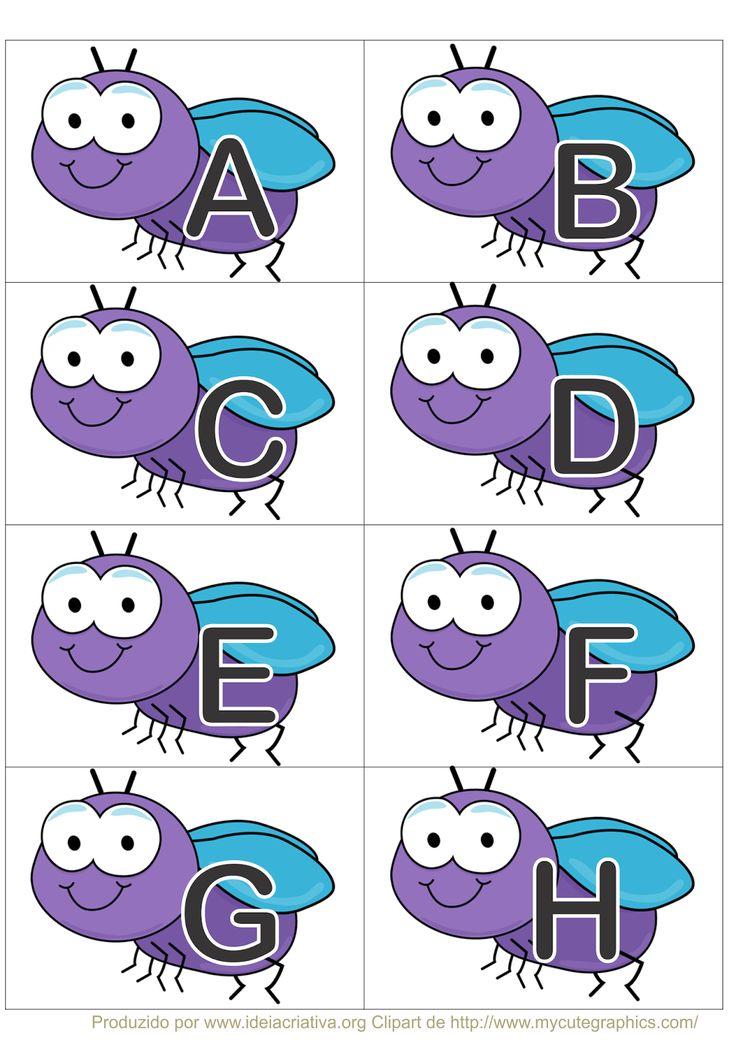 Jogo Pedagógico Mata Moscas Letras do Alfabeto