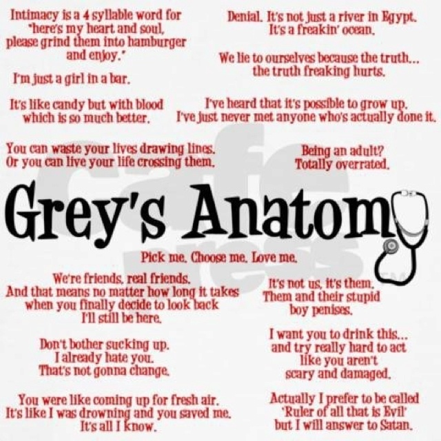 All my favorite quotes from greys