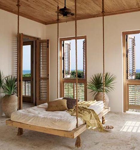 bedroom swing beds and baths and closets pinterest