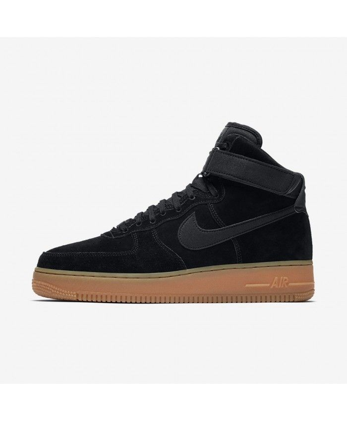 Mens Shoes Nike Air Force 1 07 Lv8 Suede Black AA1118 001