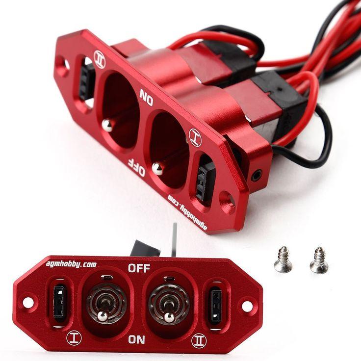 22.49$  Watch now - http://alivuy.shopchina.info/go.php?t=32712672051 - Heavy Duty Dual Power Switch w/ 4 Cable Lock For Servo RC Airplane Kits  #aliexpressideas