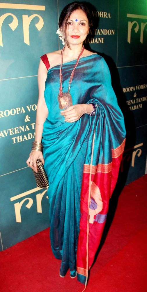 Maria Goretti - love how simple and elegant she always looks in traditional saris!