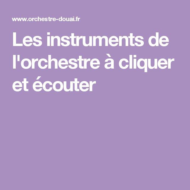 Les instruments de l'orchestre à cliquer et écouter