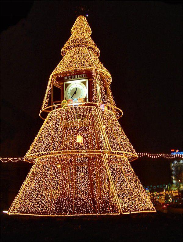 Christmas tree, Bucuresti, Romania