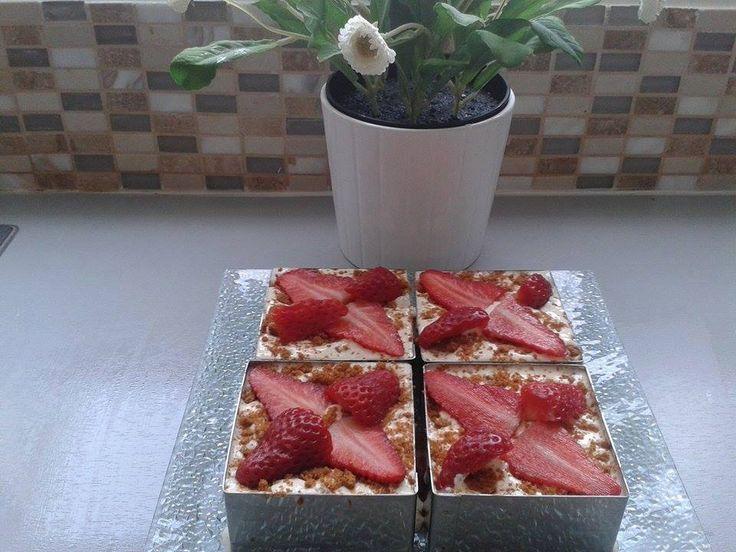 Découvrez notre recette de Tiramisu fraises et speculoos