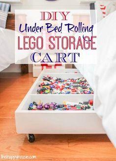 Make your own DIY Under Bed Rolling Lego Storage Cart