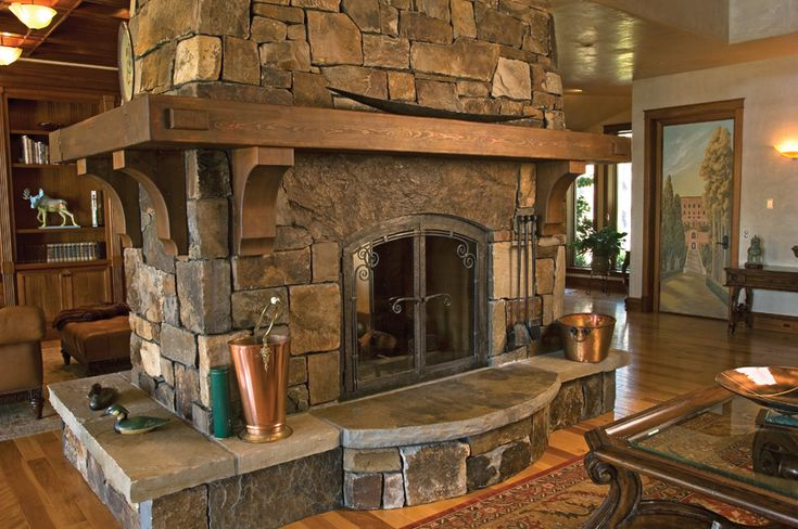 17 best ideas about double sided fireplace on pinterest for Four sided fireplace