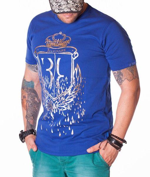 Billionaire Tricouri Cu Guler Rotund - Crown Tricou Albastru