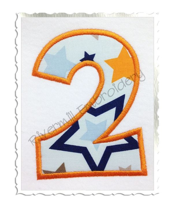 Happy Applique Numbers Machine Embroidery Designs