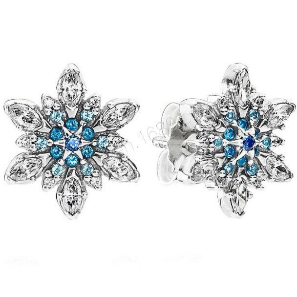 Купить товарСовместим с пандора 100% 925 серебро серьги кристаллизуют снежинка, Синие кристаллы и CZ прелести оптовая продажа в категории Серьги-гвоздикина AliExpress.                  Подлинный стерлингового серебра 925 серебро _ Оптовая продажа фабрики