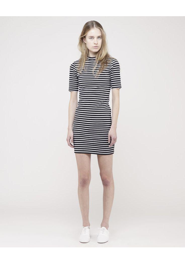 T by Alexander Wang / Striped Knit Dress | La Garçonne