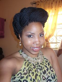 My Hair is My Beauty: Styling your Senegalese Braids: Look 1 - the Cross Bun Roll