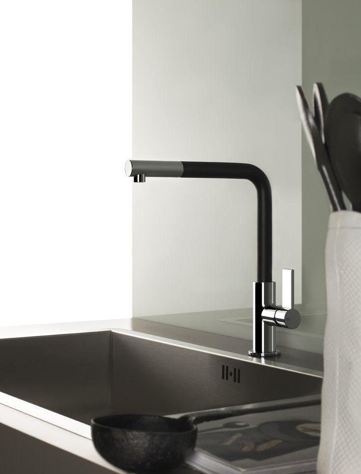 Gessi Emporio sink mixer in black & chrome