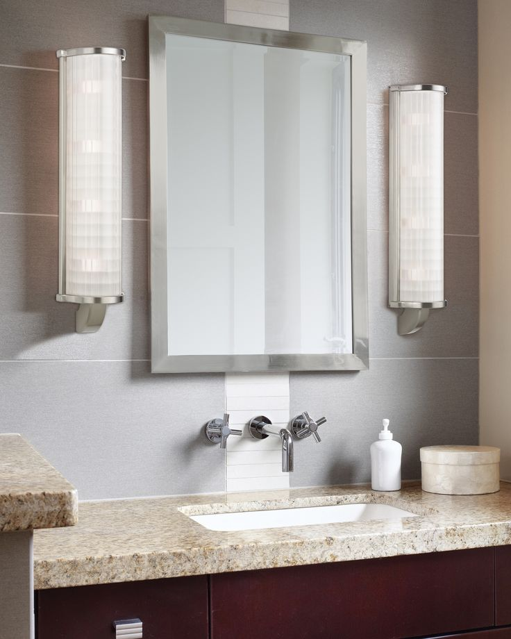 185 best wall vanity lighting images on pinterest bathroom the energy star rated hudson valley arcadia vanity lights sleek column of etched pressed glass expresses aloadofball Choice Image