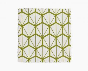 Tissu imprimé Fragments Vert