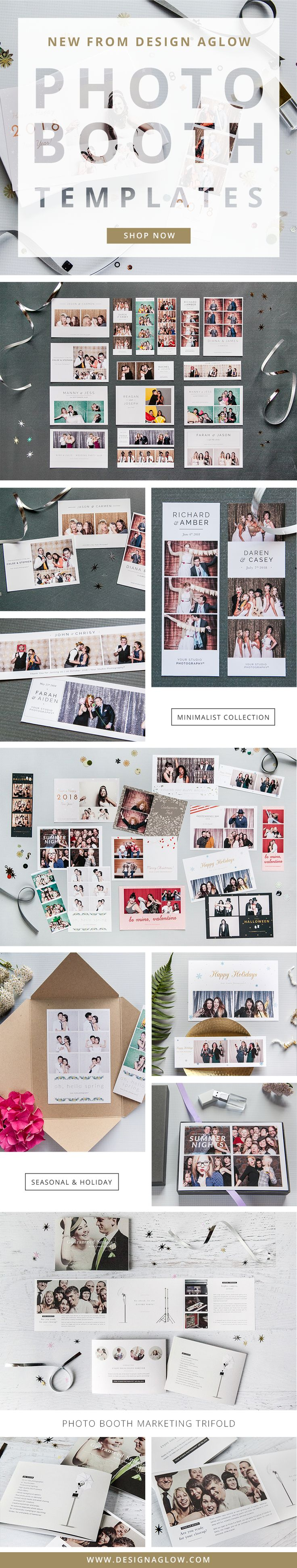 Send guests home with a branded takeaway from every event with these fabulously shareable photo booth templates.