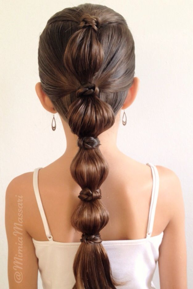 Bubble hairstyle with knotty wrap inspired by @babesinhairland