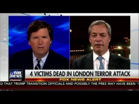 Nigel Farage talks to Tucker on British attack - YouTube