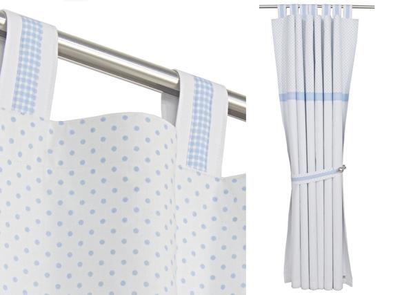 White And Gray Zig Zag Drape Panel Chevron Curtains
