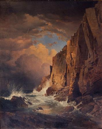 "William Trost Richards (American, 1833–1905), ""The Otter Cliffs, Mount Desert Island, Maine, 1866"