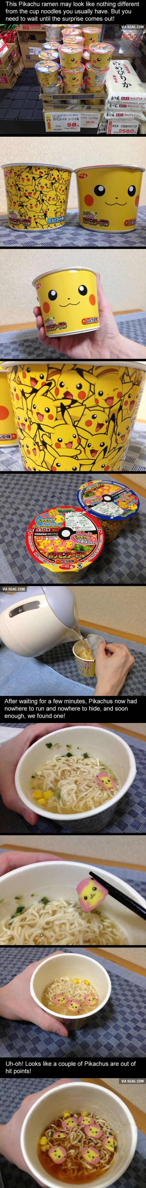 This Pikachu Ramen Looks Super Cute, And It Has A Surprise Waiting For You - 9GAG