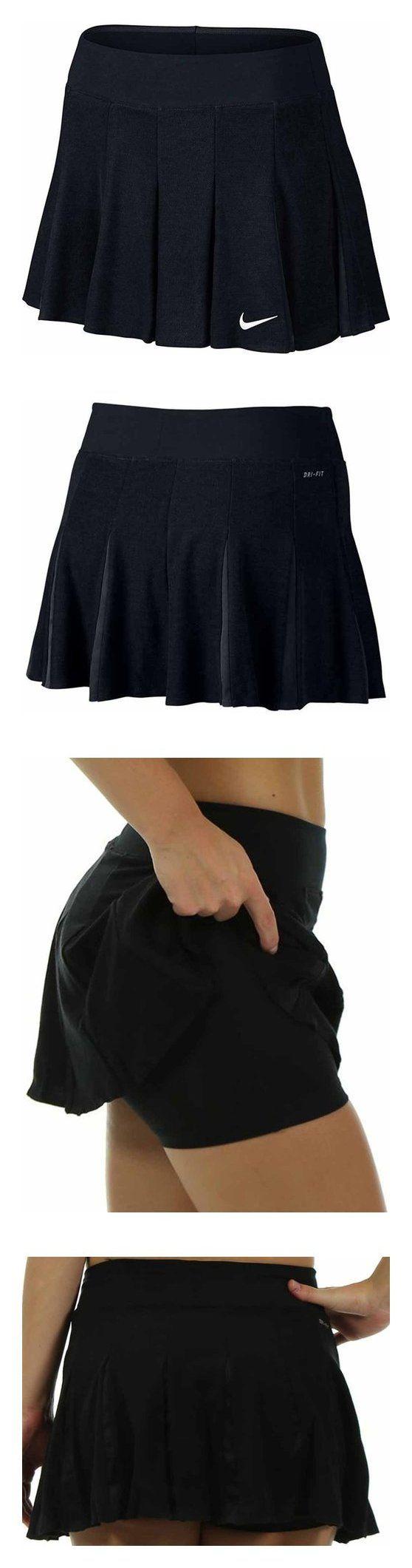 $70 - Nike Premier Maria Sharapova Tennis Skirt long - Black 728833 010 Medium #nike