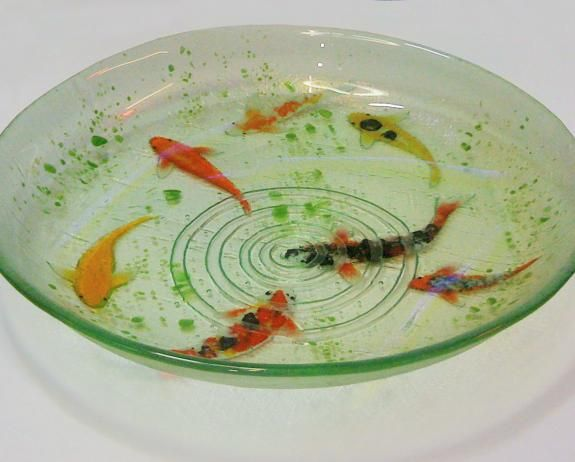 By Lisa Badger.    Large Koi Bowl