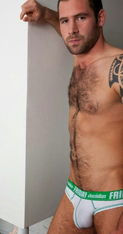 Hairy handsome bulge appreciated her: