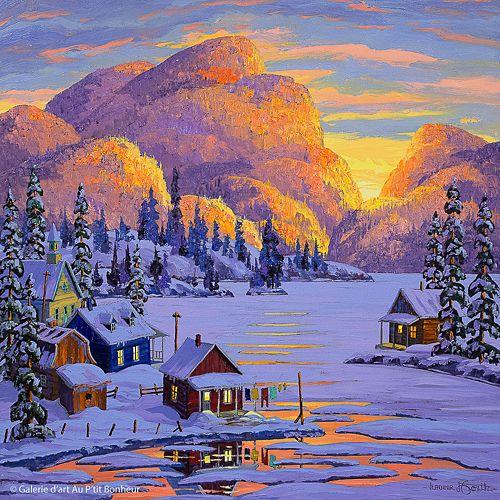 Vladimir Horik, 'Une autre journée parfaite', 30'' x 30'' | Galerie d'art - Au P'tit Bonheur - Art Gallery