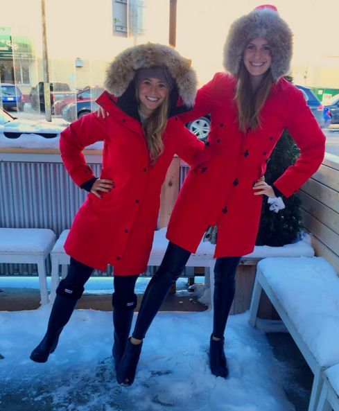 we am not afraid of the cold this# winter.Wear red #parka for Women