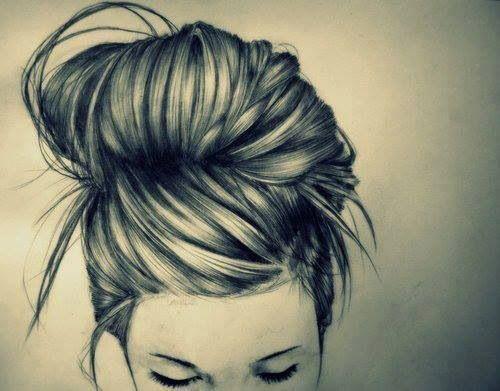 Hairstyle Drawings : Drawing of bun: Amazing Drawings, Beautiful Hairstyles, Amazing Hair ...