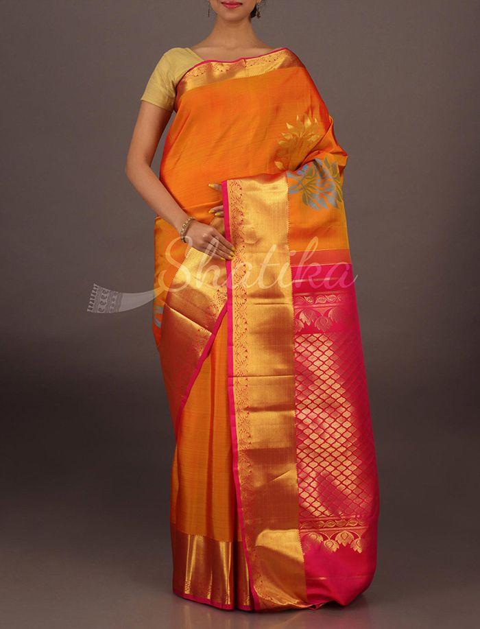 Sudha Bold Motifs Ornate Border Pallu Pure #SalemSilkSaree