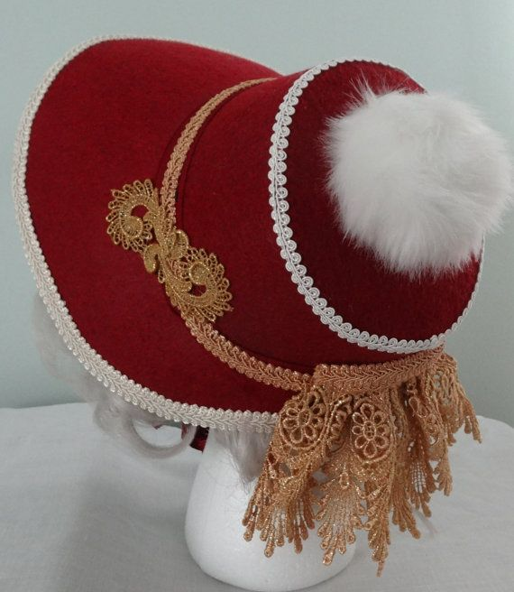 Christmas Bonnet for Mrs. Claus or Victorian by MrsClausCreations OR THIS ONE?