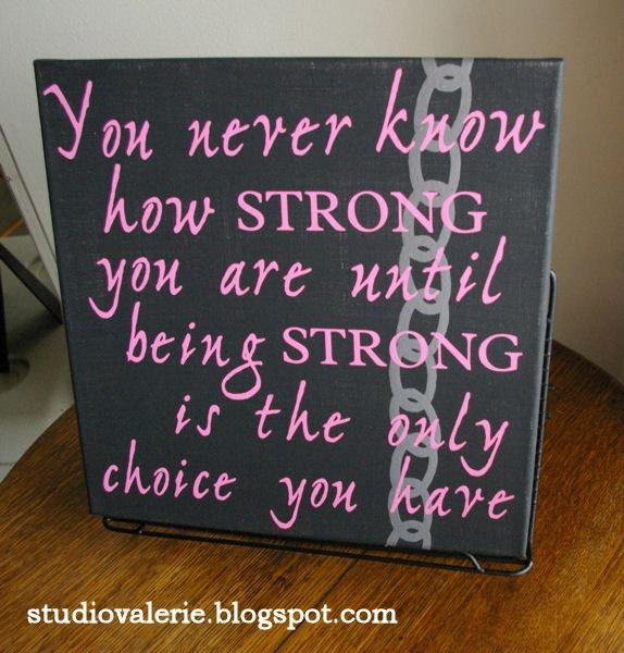 Unbroken Strength Canvas Art. $20,00, via Etsy.