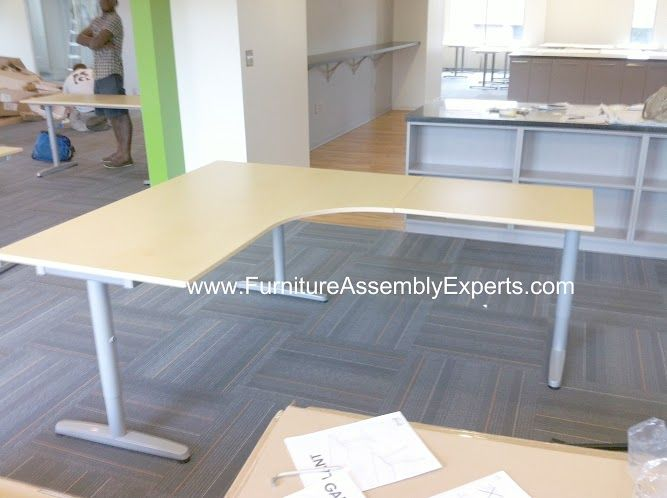 Ikea Galant Office Corner Desk Assembled In Lanham Md By Furniture Assembly Experts LLC