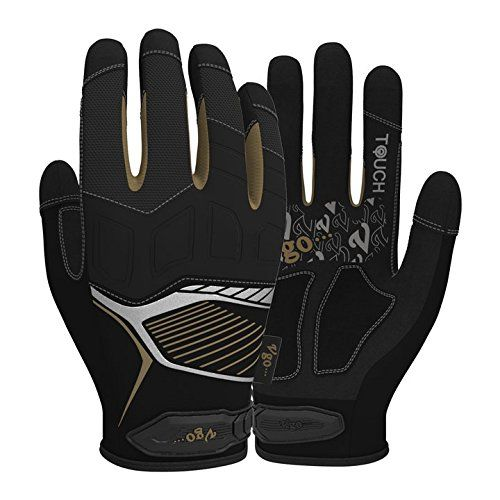 Vgo Glove High Dexterity Medium Duty Mechanic Glove(Size:Large)(Anti-vibration,anti-abrasion,touchscreen,neoprene padding knuckle) - Vgo medium duty mechanic gloves provide perfect blend of flexibility and protection, synthetic leather palm with both padding and silicone for added durability, and accordion knuckle guard with high density neoprene padding also offers the best protection. In addition, the high-visibility reflect...