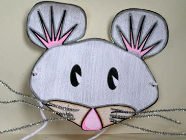 Mouse mask for Mardi Gras : paper plate mouse - pezcame.com