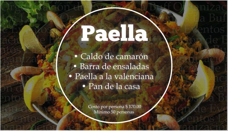 #Paella #Eventos #CDMX  Aprovecha la promoción 10% de descuento en todos los servicios de Paella ORGANIZACIÓN DE EVENTOS LA BUFF. Precio: $170 a $360 Mínimo 50 personas. (Oferta disponible hasta el 17 de Julio 2017) Tel: 36 00 52 74 WhatsApp. 55 83 45 07 79 www.eventoslabuff.com https://www.facebook.com/pg/eventoslabuff/offers/…
