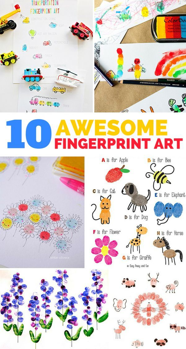 10 AWESOME AND FUN FINGERPRINT ART PROJECTS FOR KIDS