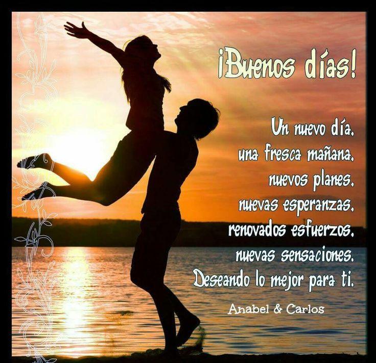 """Un nuevo día es un nuevo renacer, una nueva oportunidad para comenzar una nueva vida y hoy puede ser el día que enmarques como el """""""" GRAN DÍA """""""" solo depende de TI!!! Muy Buenos Días y #FelizDomingo #anabelycarlos #tudiaesdifernte"""