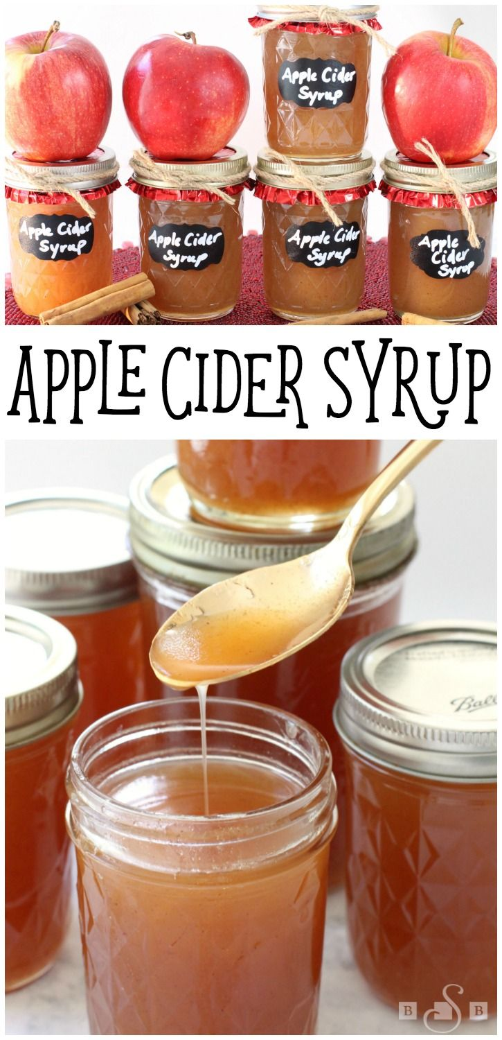 Apple Cider Syrup - simple recipe for homemade Apple Cider Syrup that not only tastes incredible but makes a super cute gift as well! Easy apple recipe from Butter With A Side of Bread #InspiredGathering AD