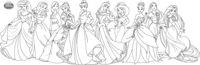 Pintar As Princesas Da Disney Princesas Disney Para Colorir