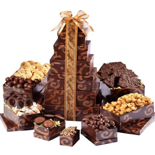 Gift Baskets - Pin it :-) Follow us, CLICK IMAGE TWICE for Pricing and Info . SEE A LARGER SELECTION of gift baskets at http://azgiftideas.com/product-category/gift-baskets/ - gift ideas , gift set - Broadway Basketeers Gourmet Chocolate Gift Tower (Kosher)