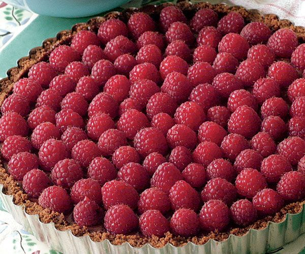 Chocolate-Raspberry Tart with a Gingersnap Crust Recipe. Delish, easy ...