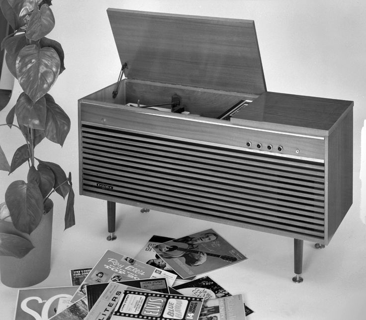 AWA Radiola model B50 in studio setting, March 1966. Max Dupain & Associates.