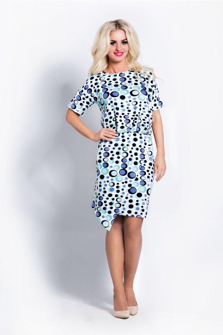 Ασύμμετρο μίνι φόρεμα με print.