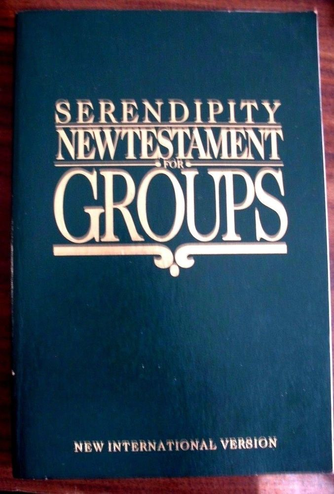 Serendipity New Testament for Groups: New International Version 1986 #onlybookyouleadaBiblestudygroup