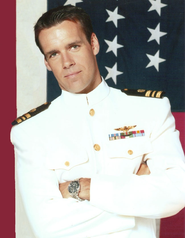 """You know what they say about Dress Whites and Gold Wings..... Harmon Rabb, """"JAG"""" (hk)"""