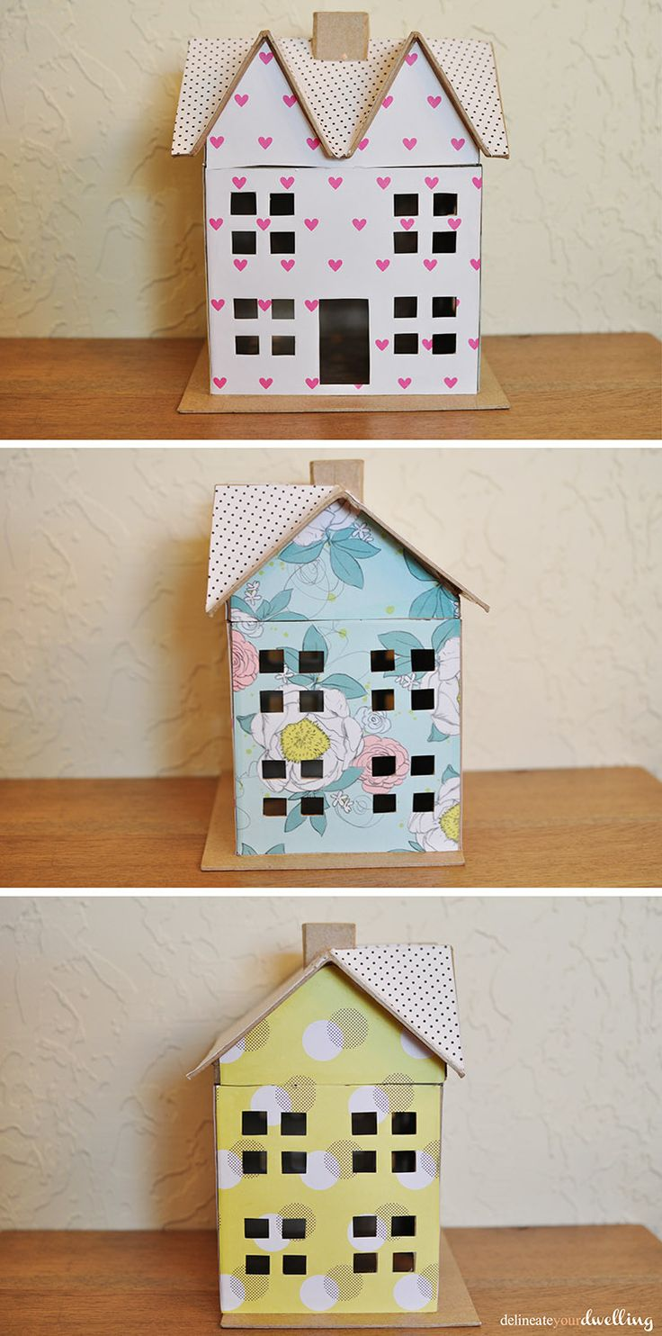 How to make scrapbook paper at home - Delineate Your Dwelling Scrapbook Paper Doll House