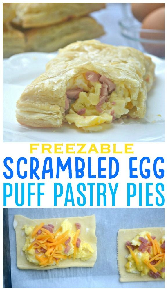 Scrambled Egg Puff Pastry Pies